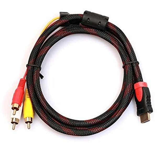 5ft HDMI Male To 3 RCA Video Audio Component Adapter Cable HDTV 1080