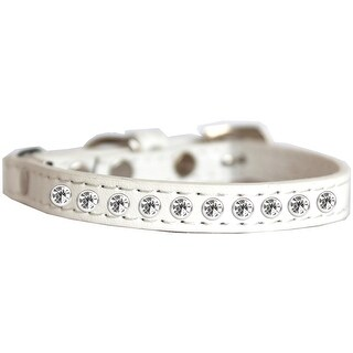 Clear Jewel Cat safety collar White Size 12