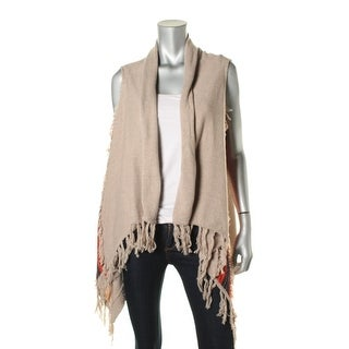 Ella Moss Womens Handkerchief Hem Fringe Cardigan Sweater - XS