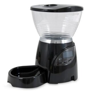 "Petmate Le Bistro Electronic Portion Control Automatic Pet Feeder 5 lbs Medium Black 9.8"" x 13.7"" x 13.98"""