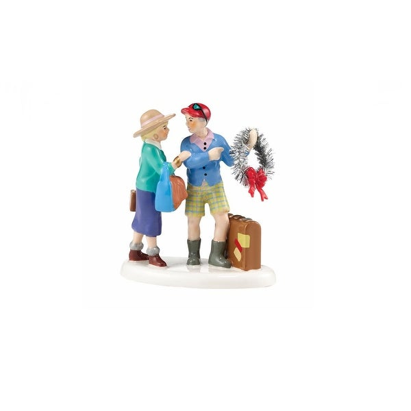 "Department 56 Snow Village Series ""Back for the Holidays"" accessory #4036575 - BLue"