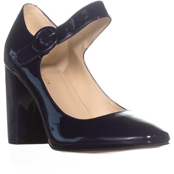Marc Fisher Shaylie Mary Jane Heels, Dark Blue