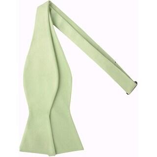 Jacob Alexander Men's Self Tie Freestyle Solid Color Bowtie - One Size