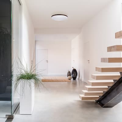 Porch & Den Amberglen Integrated LED Flush Mount Ceiling Light
