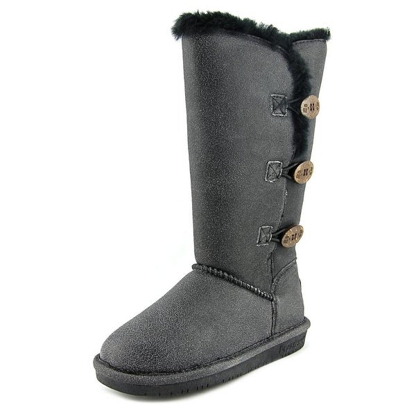 Bearpaw Lauren Women Distressed Black Snow Boots
