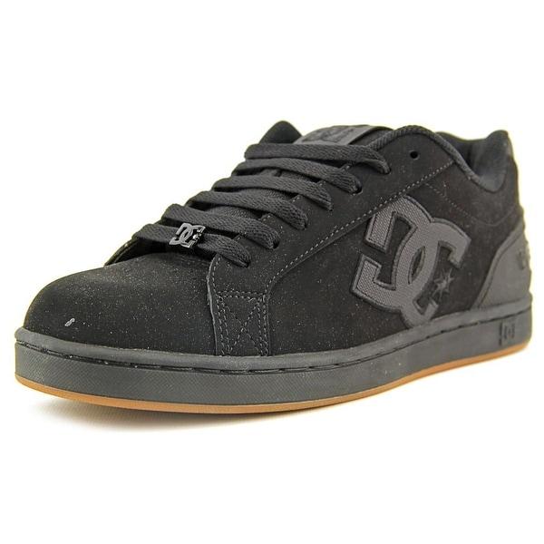 DC Shoes Clemente Men Round Toe Leather Black Skate Shoe