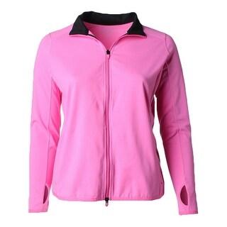 Lauren Ralph Lauren Womens Plus Athletic Jacket Zipper Front Long Sleeves - 1x