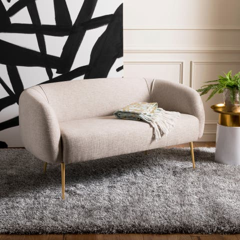 SAFAVIEH Couture High Line Collection Alena Off-White Polyester Blend Loveseat