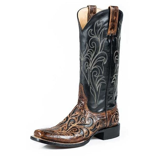 Stetson Western Boots Women Leather Caroline Brown