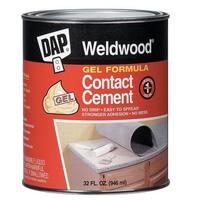 Dap 25312 Weldwood Gel Formula Contact Cement, 1 Quart