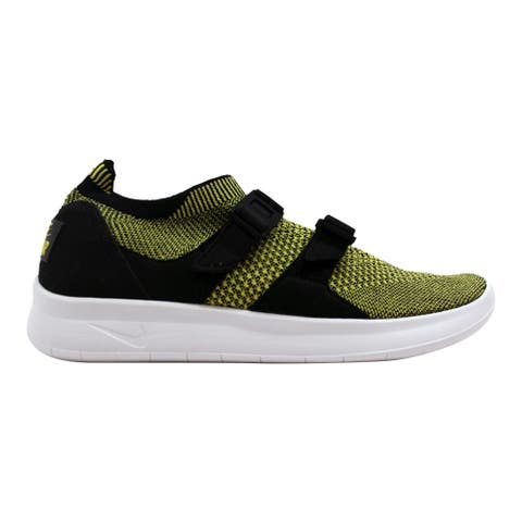 big sale f667b 117e7 Nike Women s Air Sockracer Flyknit Black White-Yellow Strike 896447-003