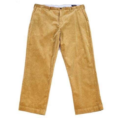 Polo Ralph Lauren Mens Pants Brown Sz 40x30 Classic Fit Stretch Corduroy