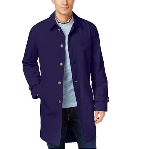 Tommy Hilfiger Mens Finn Raincoat, Blue, 46