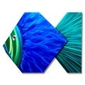 Statements2000 Large Blue / Green Tropical Fish Metal Wall Art Accent by Jon Allen - Big Blue Fish - Thumbnail 6