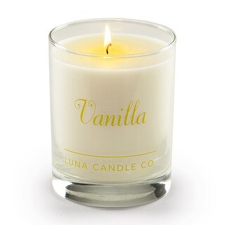 Luna Candle Co., Vanilla - Scented Luxurious Candles - 11 Oz - 80 Hrs Burn Time