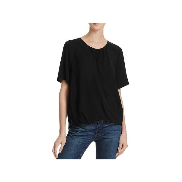 6ab80039 Shop Velvet Womens Blouse Short Sleeves Wrap Front - Free Shipping ...
