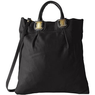 SJP by Sarah Jessica Parker Womens Lispenard Tote Handbag Leather Convertible - Black - Large