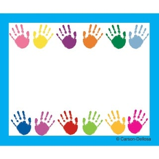 Name Tags Handprints 40/Pk