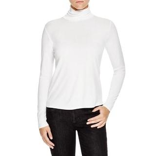 Eileen Fisher Womens Turtleneck Top Silk Long Sleeves