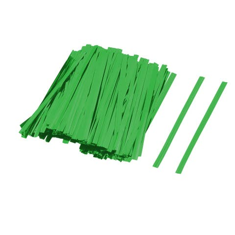 Gift DIY Craft Candy Biscuit Bag Lollipop Packing Sealing Twist Ties Green 300pcs