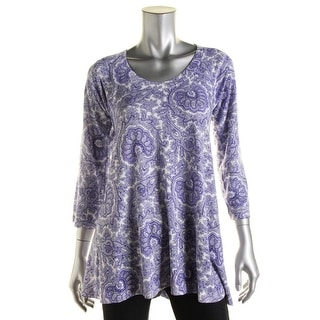 Nally & Millie Womens Paisley 3/4 Sleeves Tunic Top