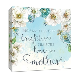 """PTM Images 9-147767  PTM Canvas Collection 12"""" x 12"""" - """"Mother's Love"""" Giclee Sayings & Quotes Art Print on Canvas"""