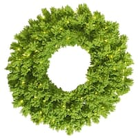 "30"" Flocked Lime Wreath DuraL LED100Lime"