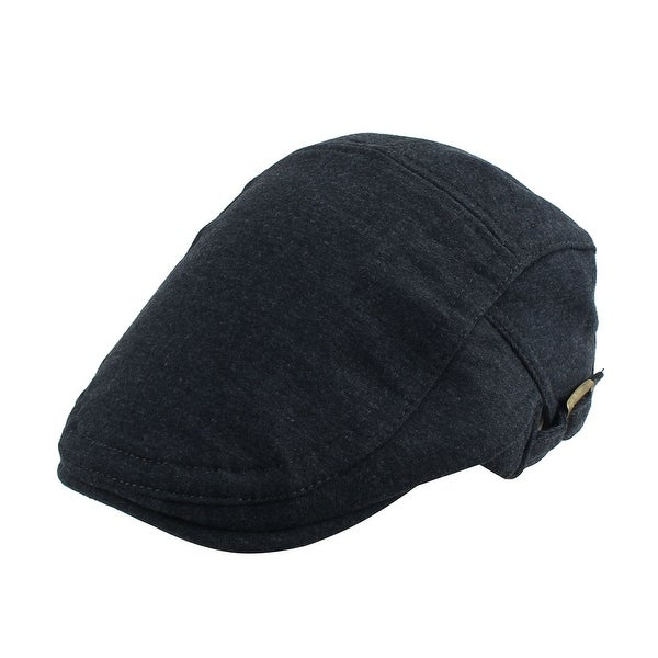 dc93b731590 Cotton Blends Newsboy Ivy Cap Driving Golf Flat Adjustable Beret Hat Dark  Gray