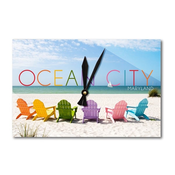 Shop Ocean City Maryland Colorful Beach Chairs Lantern Press