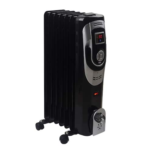 Optimus Digital 7 Fins Oil Filled Radiator Heater with Timer
