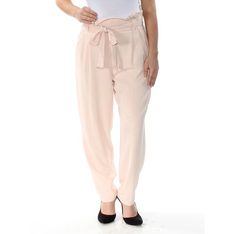 RACHEL ROY Womens Pink Belted Tapered Wear To Work Pants Size: 12