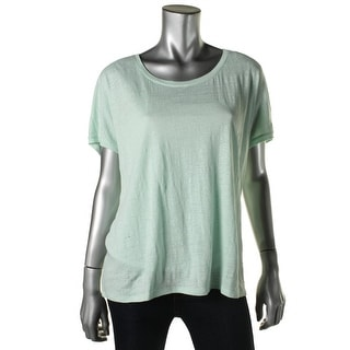 Eileen Fisher Womens T-Shirt Linen Solid