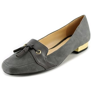 Isaac Mizrahi Paulina Women Square Toe Suede Loafer