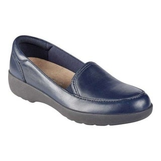 Easy Spirit Womens Karin Leather Closed Toe Loafers