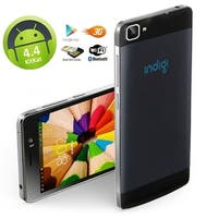 Indigi® NEW V19 Factory Unlocked 3G Android 4.4 KitKat Smartphone w/ Dual-Cameras + 2 SIM Slots + Dual-Core performance - Black
