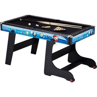 Fat Cat Stormstrike 5-Foot Space-Saving Folding Billiard/Pool Game Table