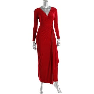 Lauren Ralph Lauren Womens Petites Pascha Evening Dress Pullover Jeweled Detail