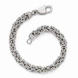 Sterling Silver Polished Link Bracelet - 7.5 inches