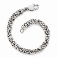 Sterling Silver Polished Link Bracelet - 7.5 inches