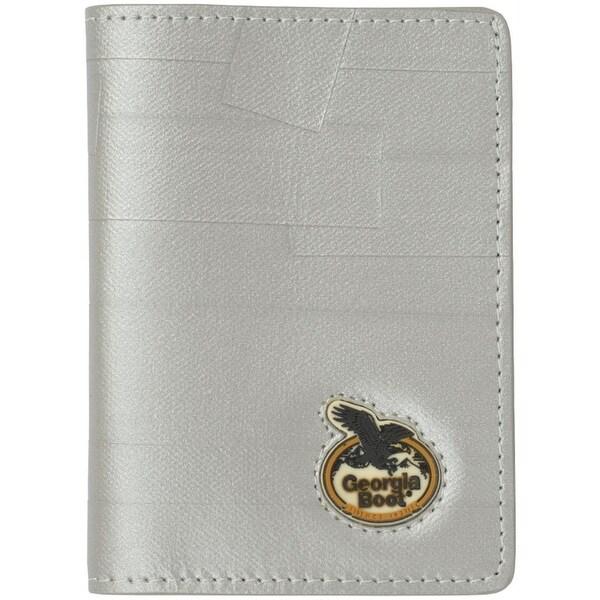 Georgia Wallet Men Leather Bi-fold Tec Tuff Metallic White - One size