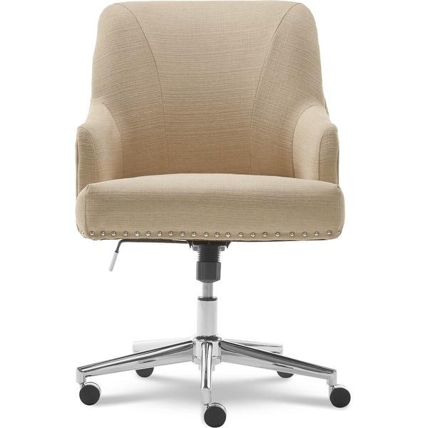 Shop Serta Leighton Home Office Chair Stoneware Beige Overstock 15617354