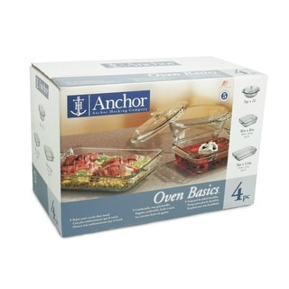 Anchor Hocking 82748OBL11 Oven Basics Baking Dish Set, 4 Piece