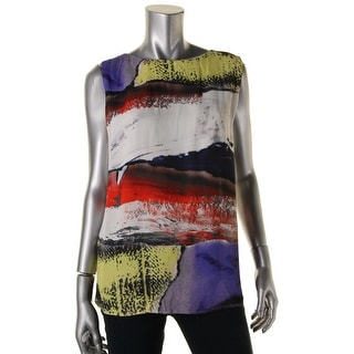 BOSS Hugo Boss Womens Printed Drapey Pullover Top - 10