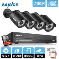 SANNCE 1080P HD 1080P Network Video Cameras Surveillance System