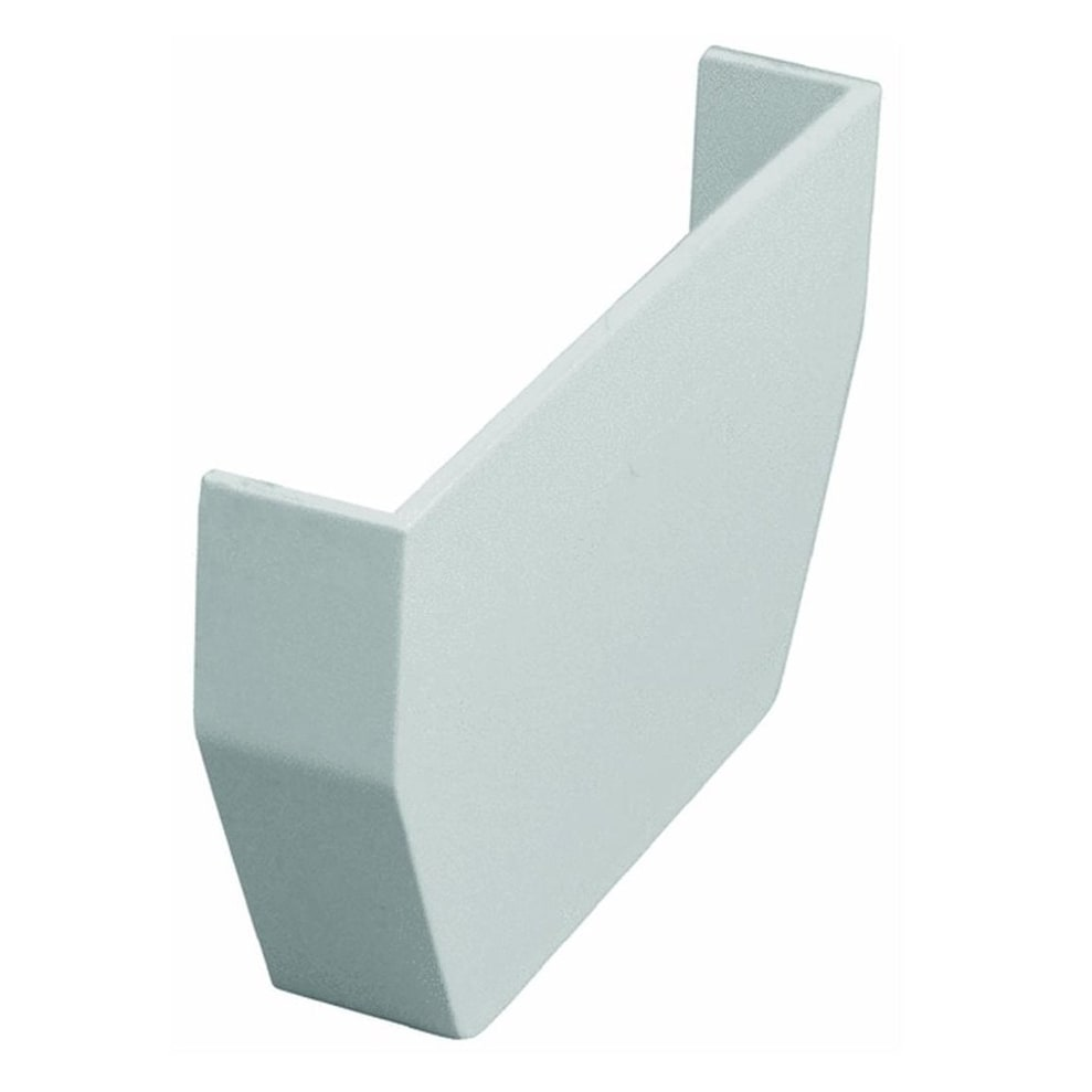 Genova RW101 Raingo Gutter Inside End Cap, White, 2.5 x 1 x 4.5