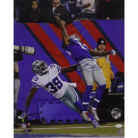 Odell Beckham Jr Autographed New York Giants 16x20 Photo Catch Vertical JSA