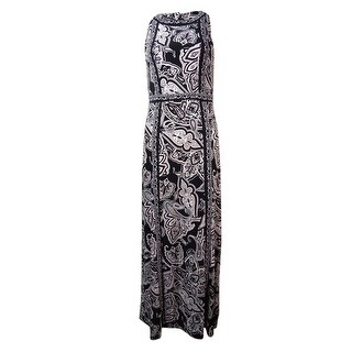 INC Women's Printed Halter Jersey Dress - xs