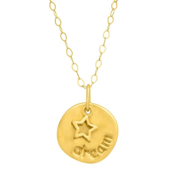 Eternity Gold Layered Circle & Star Pendant in 14K Gold - Yellow