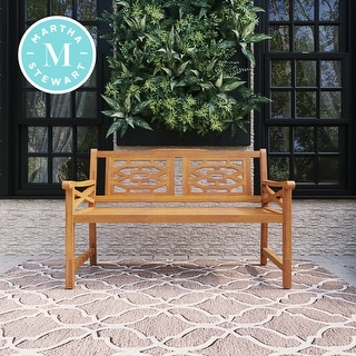 Link to Martha Stewart Beeches 54 in. Bench with Natural Wood Look Finish Similar Items in Patio Furniture