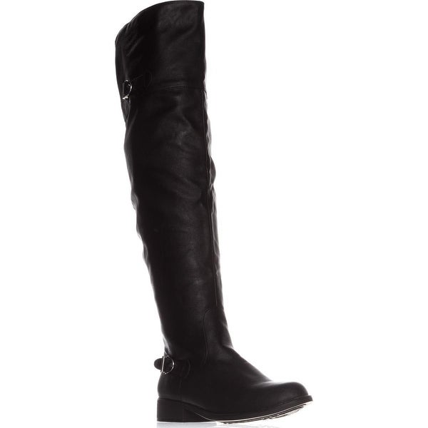AR35 Adarra Knee-High Riding Boots, Black Smooth